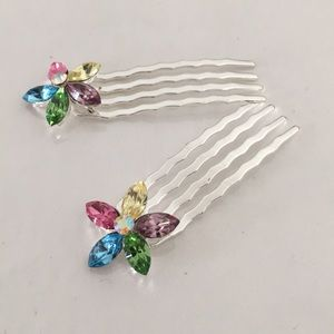 Rainbow Floral Hairpin (10 Pairs)
